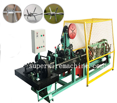 Single wire barbed wire machine send to Shanghai warehouse