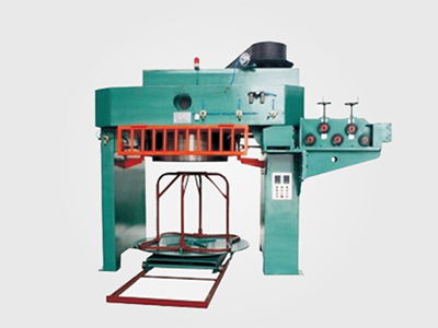 Headstand wire drawing machine for wire rod