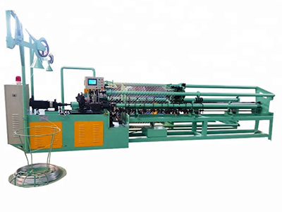 Wire fence making machine