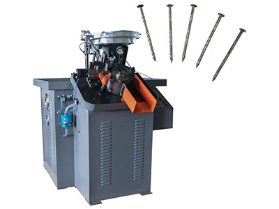 Nail thread rolling machine